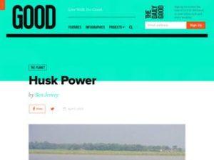 Husk Power in Good Magazine